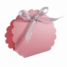 Light Pink Scalloped Clam Designer Favour Boxes